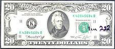 1974 B $20  FEDERAL RESERVE NOTE -GEM-DALLAS