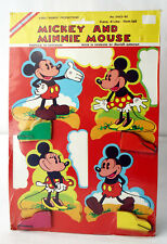RARE VINTAGE 70'S MICKEY & MINNIE MOUSE AMSCAN DECORATION DENMARK NEW SEALED !