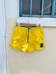 Vintage Yellow Speedo Swim Trunks