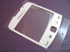Vetro vetrino cover Blackberry Curve 9300 3G per display Bianco Nuovo+biadesivo