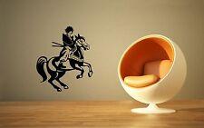 Wall Stickers Vinyl Decal Horse Rider Samurai Japan Oriental ig1664