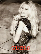 Claudia Schiffer GUESS PRINT AD/30 years of sexy/clothing/Sexy/2-pgs (071813)