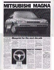 1985 MITSUBISHI ™ MAGNA Introduction 4 Page b&w News Magazine