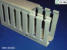 """18 New 1.5""""x3""""x2m Wide Finger Open Slot Wiring Cable Raceway Duct Cover,PVC,Gray"""