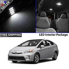 Toyota Prius 4 Door White 12V LED SMD Full Interior Light Bulb Package Combo Set