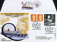 "QM2-3T2 FDC GRANDE-BRETAGNE ""QUEEN MARY 2 - 1er Voyage Transatlantique"" 2004"