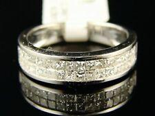 14K Princess White Gold Diamond Wedding Band Ring 1 Ct