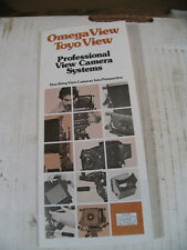 OMEGA VIEW-TOYO VIEW Pamphlet mid 70's