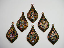 Antiqued Copper plated filigree Drops Earring - Pendant - 6 - 42mm