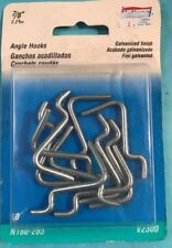 """National Hardware 7/8"""" Galvanized Steel Angle Hooks For Pegboard (10-Pack)"""