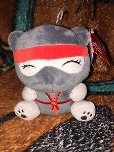 "Russ Berrie Plush Nina Ninja Bear Stuffed Animal Soft 6"" Fantasy Kingdom Me Bear"