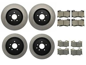 Front 355mm & Rear 350mm Centric Brake Disc Rotors and Ceramic Pads Kit For G37