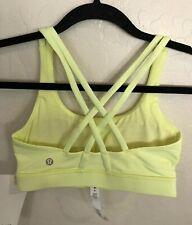 NWT Lululemon Size 4 Energy Bra FLFH Yellow