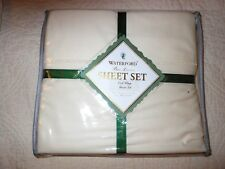 New Waterford Bed Linens Tosca Hemstitch King Flat Luxury Sheet 400CT 108' x 106