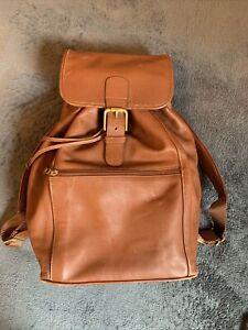 Original Vintage COACH Brown Leather Large Backpack