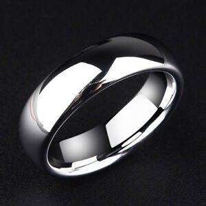 Smooth Plain Titanium Stainless Steel Mens Man Womens Band Ring jewelry size 13