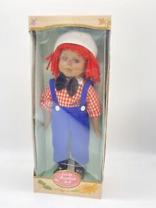 KINGSTATE THE DOLLCRAFTER RAGGEDY ANDY AFRICAN AMERICAN PORCELAIN DOLL ADORABLE!