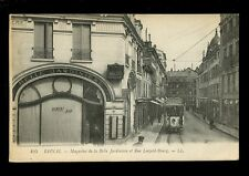 France Vosges EPINAL Rue Leopold-Bourg Tram #8 LL Louis Levy PPC 1920