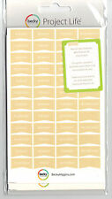 Becky Higgins PROJECT LIFE DAY STICKERS-TAN scrapbooking 380162