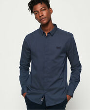 Superdry Mens Blue Spotted Slim Fit Shirt Size 2xl / With Tags