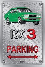 Parking Sign Metal MazdA RX3 4-door-10 - Checkerplate Look