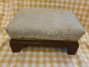 "Vintage Rectangle Squat Stool - For Restoration  15x10x7"" approx"