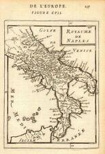 """Royaume de naples. """"royaume de naples. italie du sud. mallet 1683 old map"""