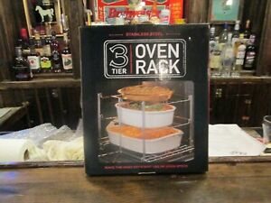 New in the box, Stainless Steel 3 tier oven rack