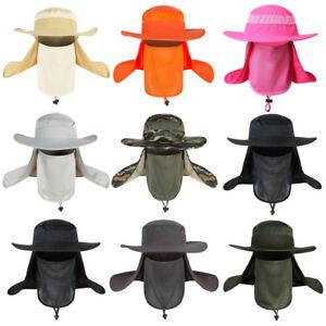 Men's Sun Protection Hat Waterproof Breathable Wide Brim Bucket Fisherman Cap