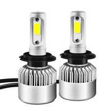 Kit 2x Bombillas LED S2H7 72W 8000LM 6500K COB Luz Faro del Coche Blanco Frio
