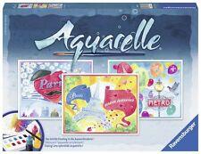 Ravensburger Aquarelle 29487 - Malsets, Paris, Maxi, 30 x 24 cm 3 Motive