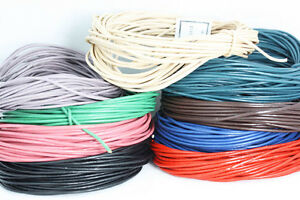 Loose Lengths Quality  Leather cord -    Rounded for pendants + Other crafts