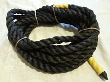 "25' POLY ROPE 7/8"" thick BLACK DOCKING /ANCHOR LINE OUT DOOR"