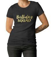 Women's Birthday Squad Shirt Bday Girl Queen T-Shirt Birthday Party Gift Shirts