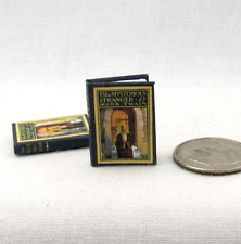 Miniature Book THE MYSTERIOUS STRANGER Dollhouse 1:12 Scale Readable Illustrated