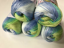 100% Mercerized Cotton Knitting Crochet Soft Yarn. Alize, 5 Skeins - 250 gr.