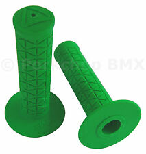 AME old school BMX Tri bicycle grips - GREEN *MADE IN USA*