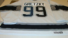 Los Angeles Kings Hockey Retro Vintage Jersey XL Road Wayne Gretzky CCM White