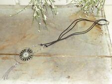Dansk Smykkekunst Kette Necklace Modeschmuck Textilband Metall Strass exklusiv