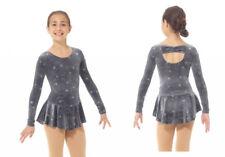 Mondor Figure Skating Dress 2767 Wallpaper Grey Twinkle Pattern Youth 10-12 CL