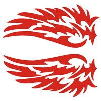 Flügel Aufkleber Außenspiegel Spiegel Motorrad Auto Vogel Sticker Rot Tribal