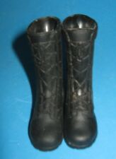 """VINTAGE BLACK MILITARY BOOTS FOR 12"""" ACTION FIGURE"""