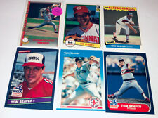 Tom Seaver Lot Of 6 Different Mets White Sox Etc Baseball Cards Member HOF C21