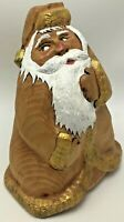 Hand Carved Wood Painted Father Christmas Santa Claus by Sharon & Larry Roberts