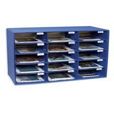 """Pacon Mail Box 15 Slots 12-1/2""""x10""""x3"""" Blue 001308"""