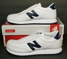 NEW  BALANCE MEN'S SIZE 9.5 WHITE / NAVY BLUE NEW IN BOX NB501BWN