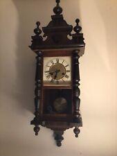 More details for very pretty antique small vienna regulator clock
