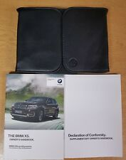 GENUINE BMW X5 F15 HANDBOOK OWNERS MANUAL 2013-2017 WALLET PACK E-191