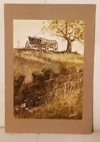 Vintage Norcross Greeting Card Rudy Nappi print wagon