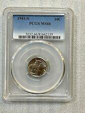 1941 S Mercury Dime PCGS MS 66 ~~ Nice Specimen ~~  (159)